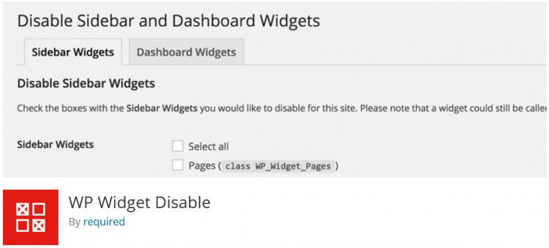 غیرفعالسازی ابزارکهای غیرضروری در وردپرس با افزونه WP Widget Disable