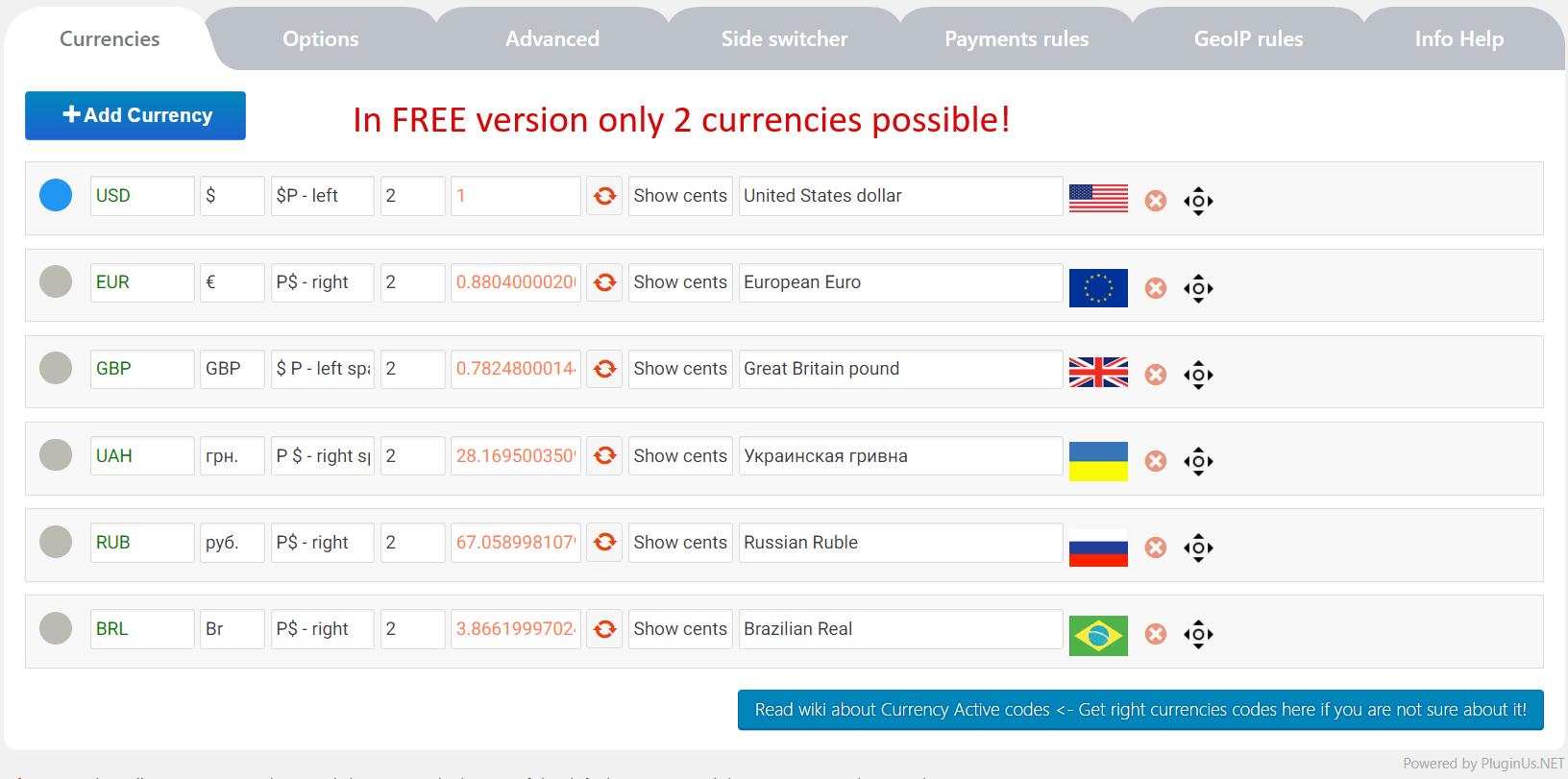افزونه تغییر واحد پول ووکامرس WooCommerce Currency Switcher