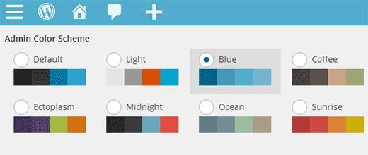 تنظیم رنگبندی پیشفرض پنل مدیریت کاربران جدید