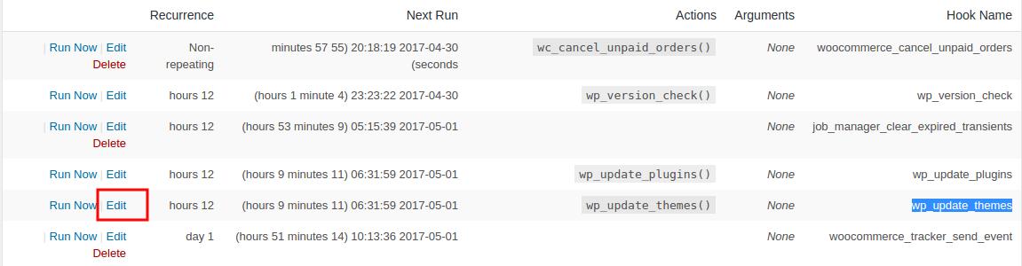 افزونه وردپرس مدیریت کارها و کرون جاب WP Crontrol