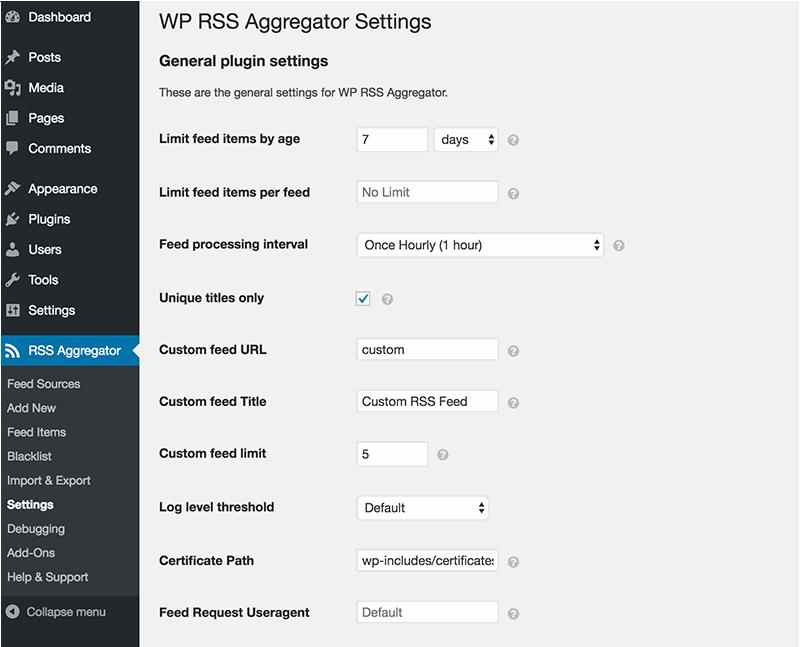افزونه فیدخوان وردپرس WP RSS Aggregator
