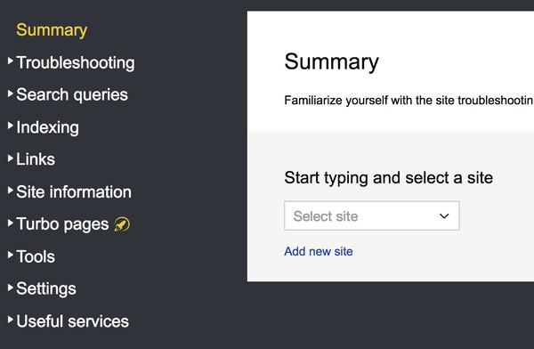 آموزش ثبت سایت در Yandex